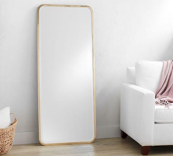 Gorgeous brass floor mirror