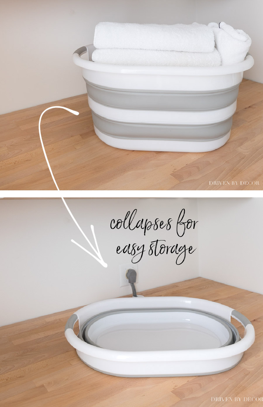 So smart for college dorms - a collapsible laundry basket!