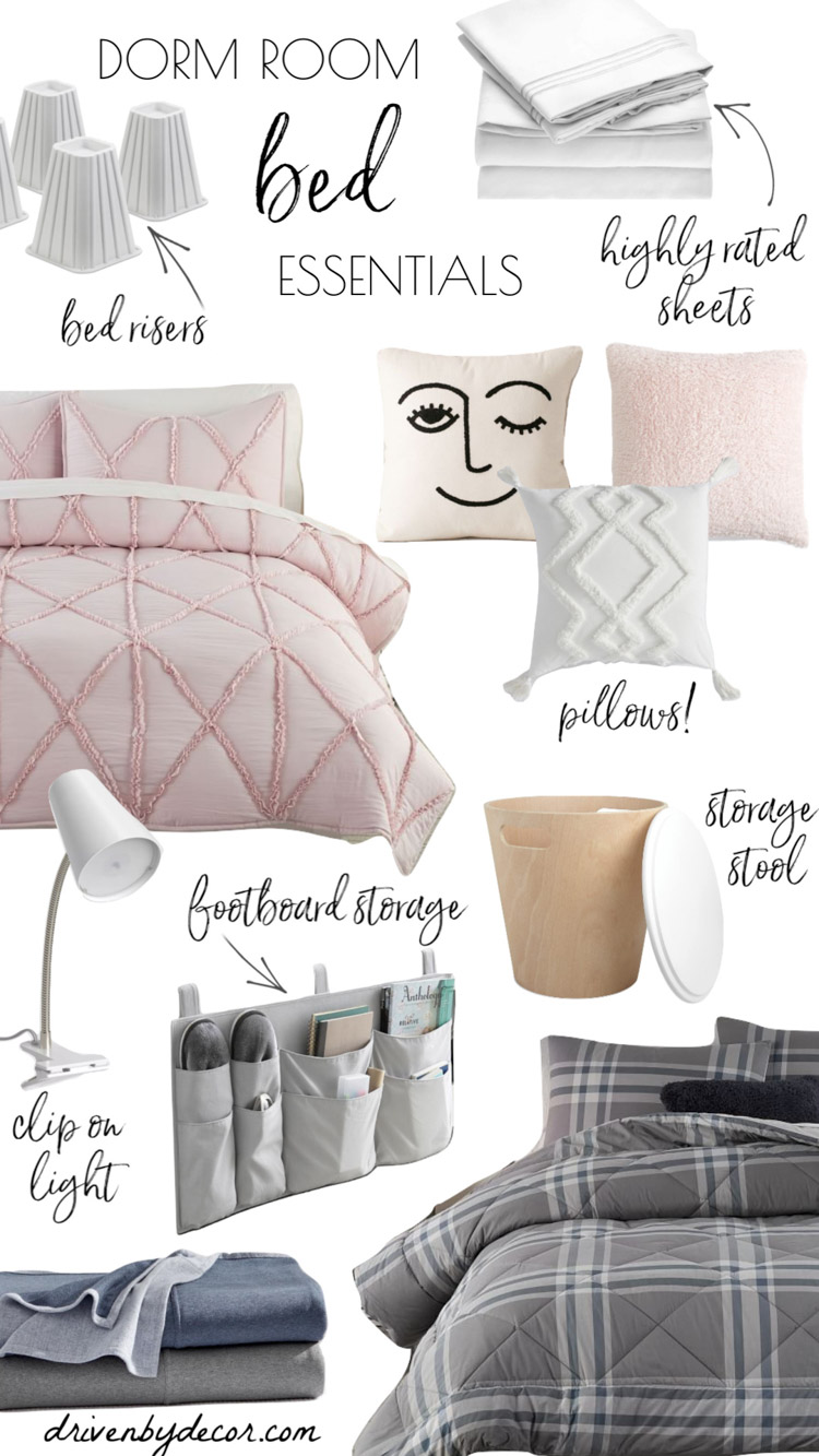 This dorm room checklist and recommendations for essentials are SO helpful for getting ready for college!