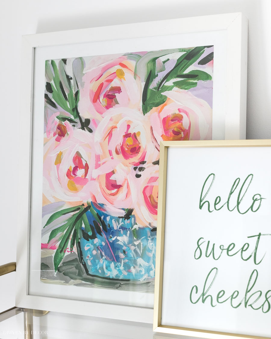 Gorgeous floral art print found on Etsy!