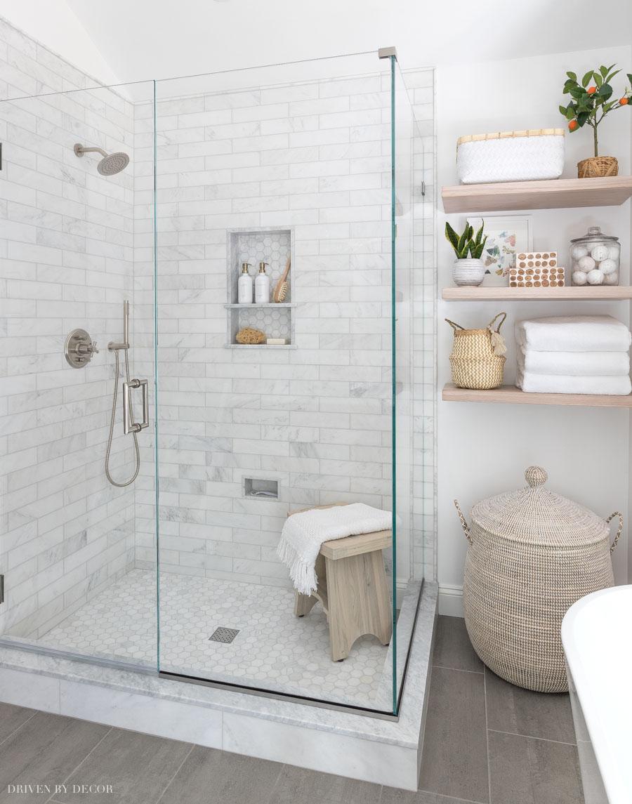 Our frameless glass shower enclosure