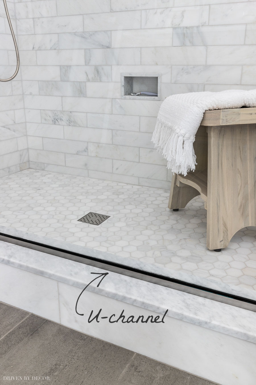 Great tip on U-channel vs clips for glass shower enclosures!