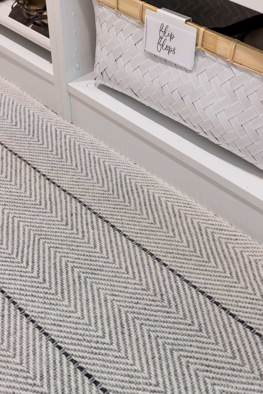 The carpet in our master bedroom closet - Peter Island Stripe!