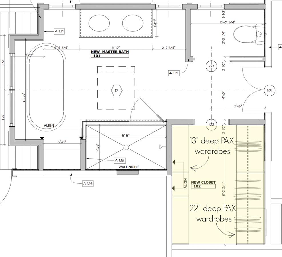 How we designed our closet to use IKEA's PAX closet system!