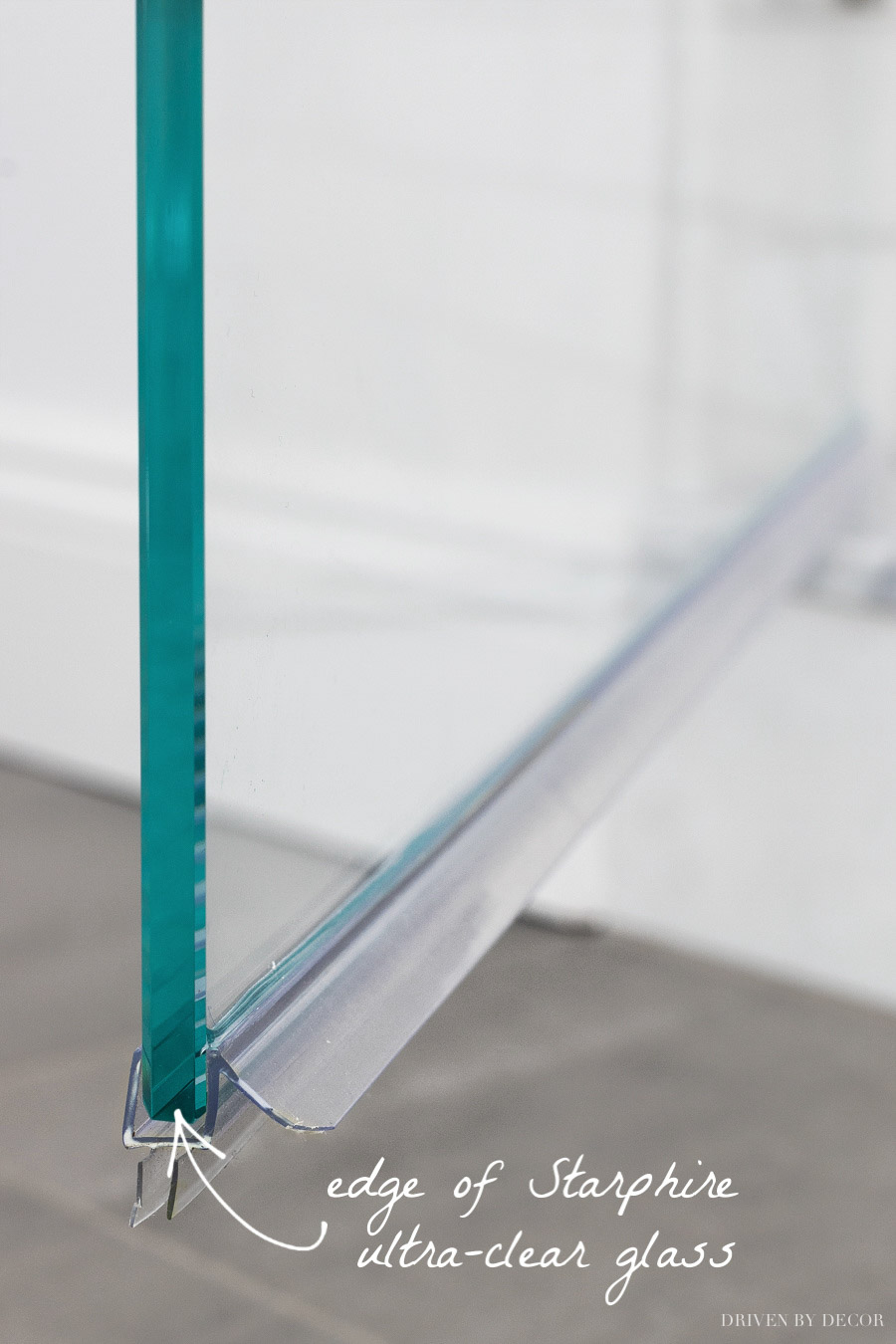 Great info on low-iron ultra-clear glass vs. regular glass!