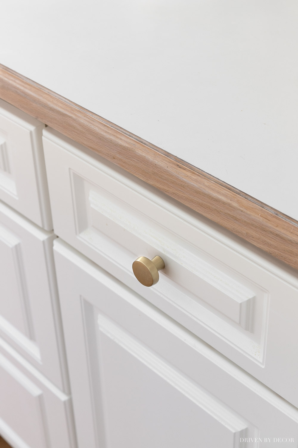 Love these soft brass cabinet knobs - they're a great price too!