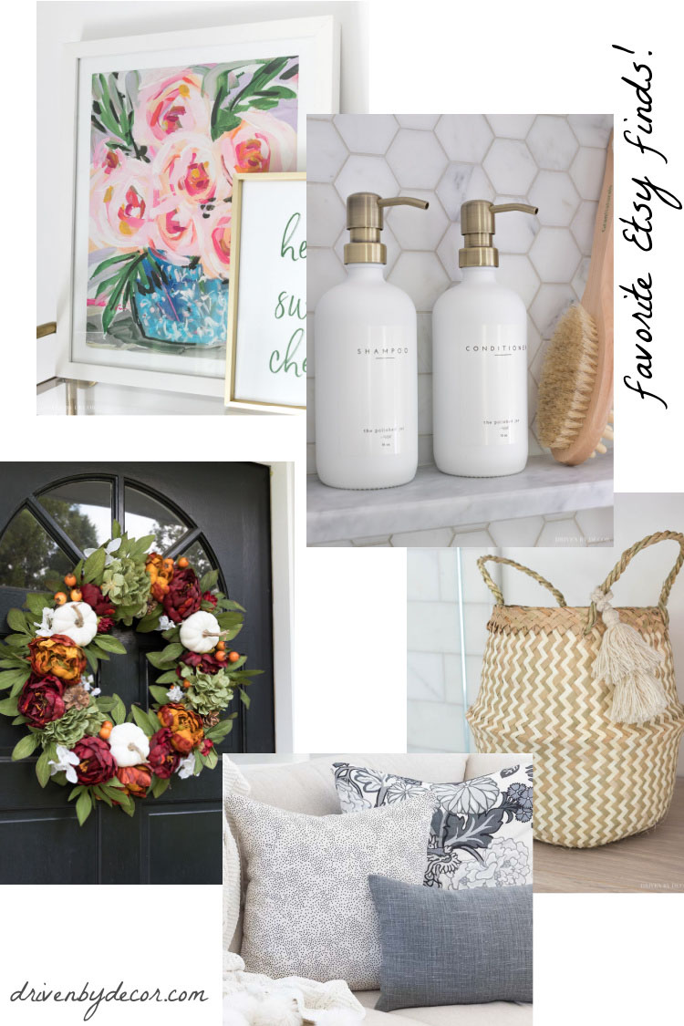 Love all of these home decor finds on Etsy!