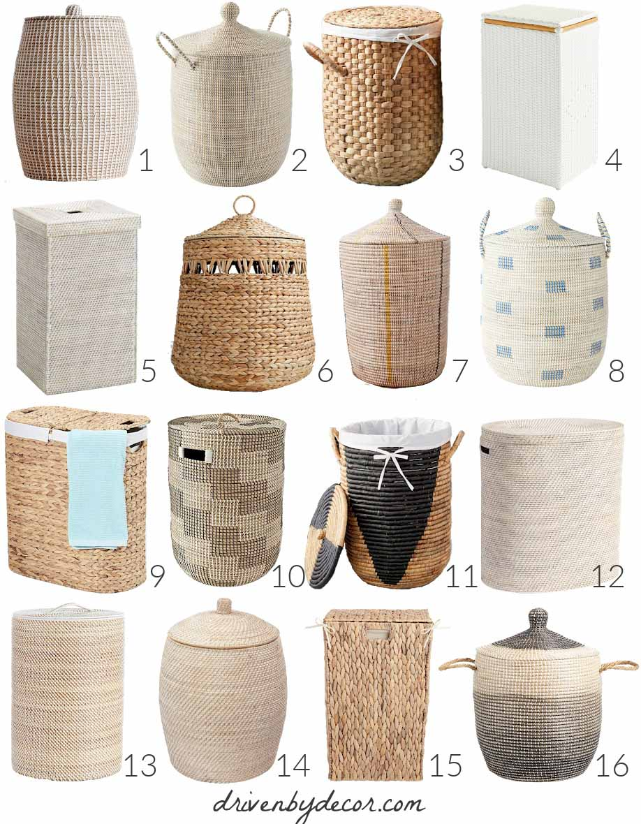 Looking for a stylish laundry hamper with lid? I searched everywhere and these are my favorites!