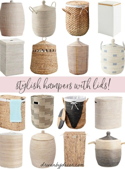 16 Stylish Woven Laundry Hampers (with Lids!)