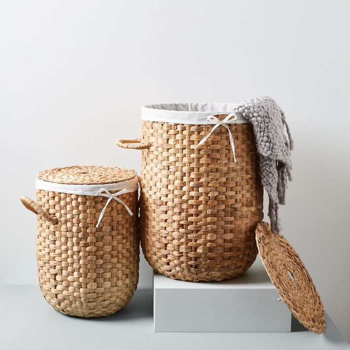 Darling laundry hamper with lid and liner in two sizes!