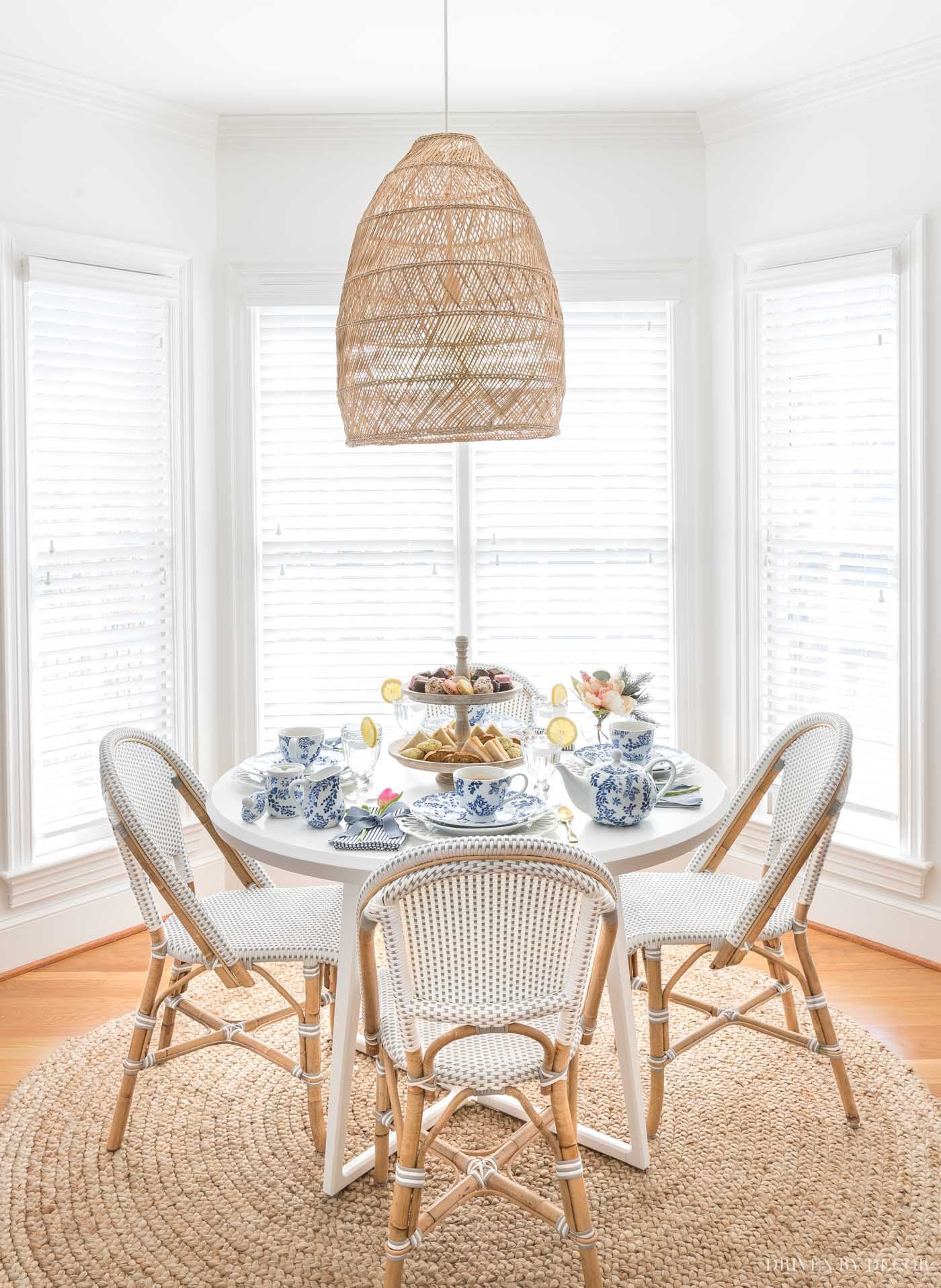So beautiful!  White color is Benjamin Moore Chantilly Lace