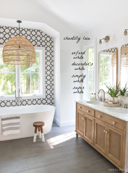 Benjamin Moore Chantilly Lace Review + Tips on Trim Color, Sheen, & Other Great Whites to Try!
