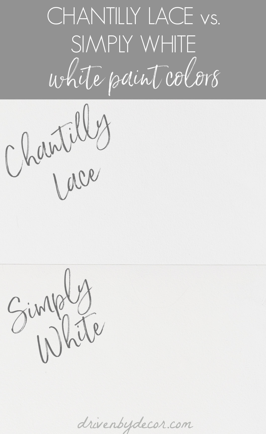 Benjamin Moore Chantilly Lace vs.  Simply white paint colors