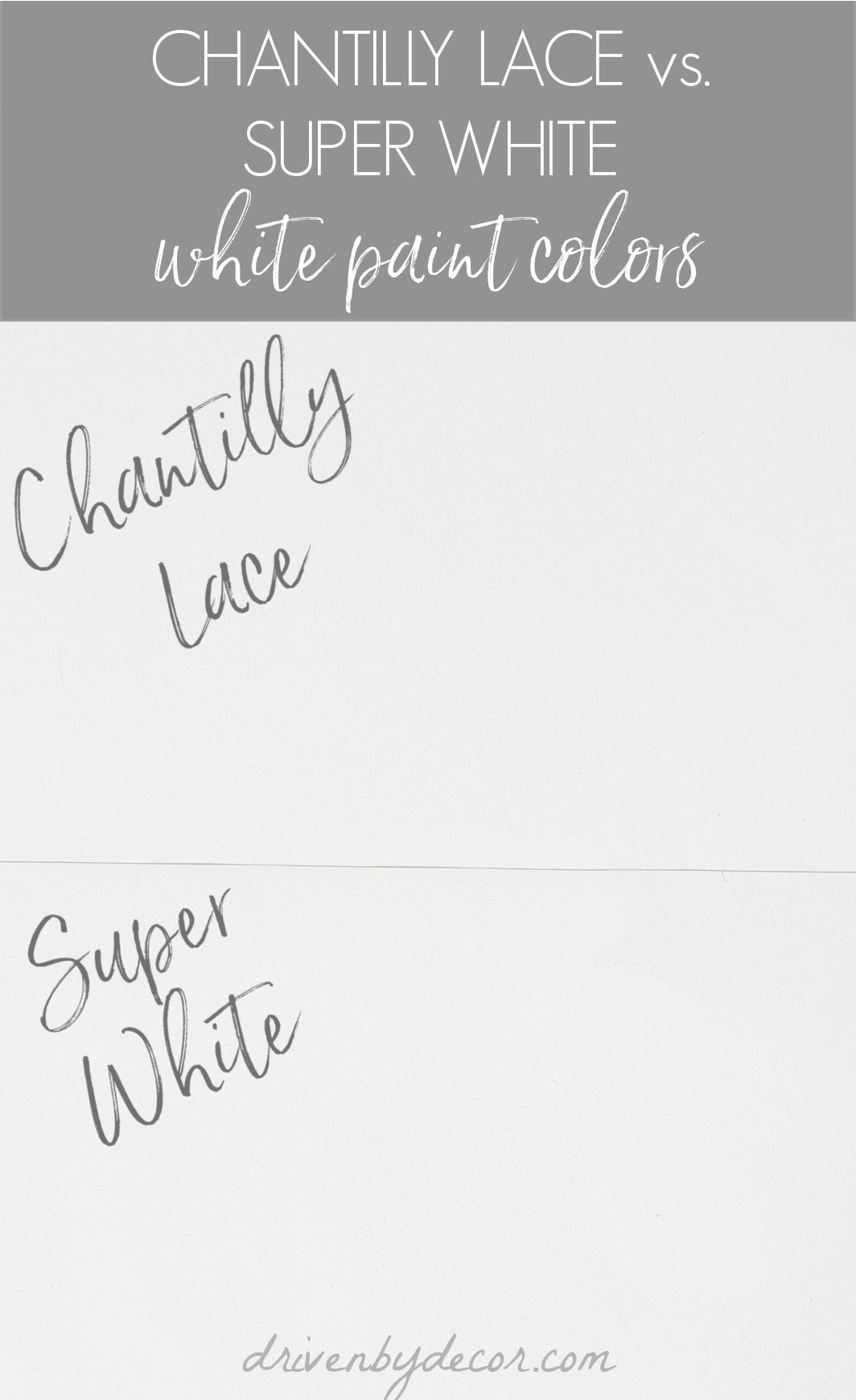 Benjamin Moore Chantilly Lace vs.  Super white paint colors