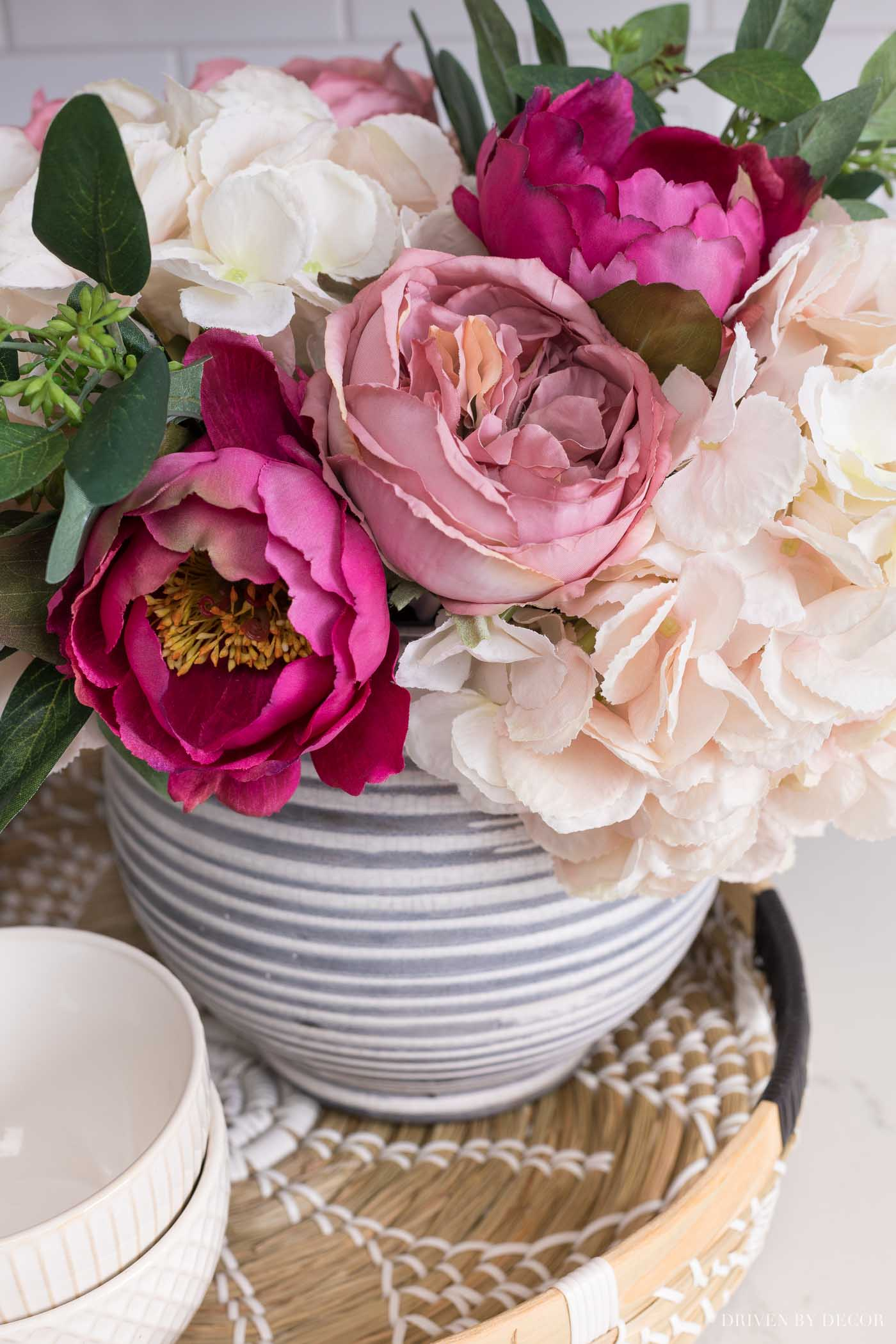 The prettiest combination of fall faux flowers!