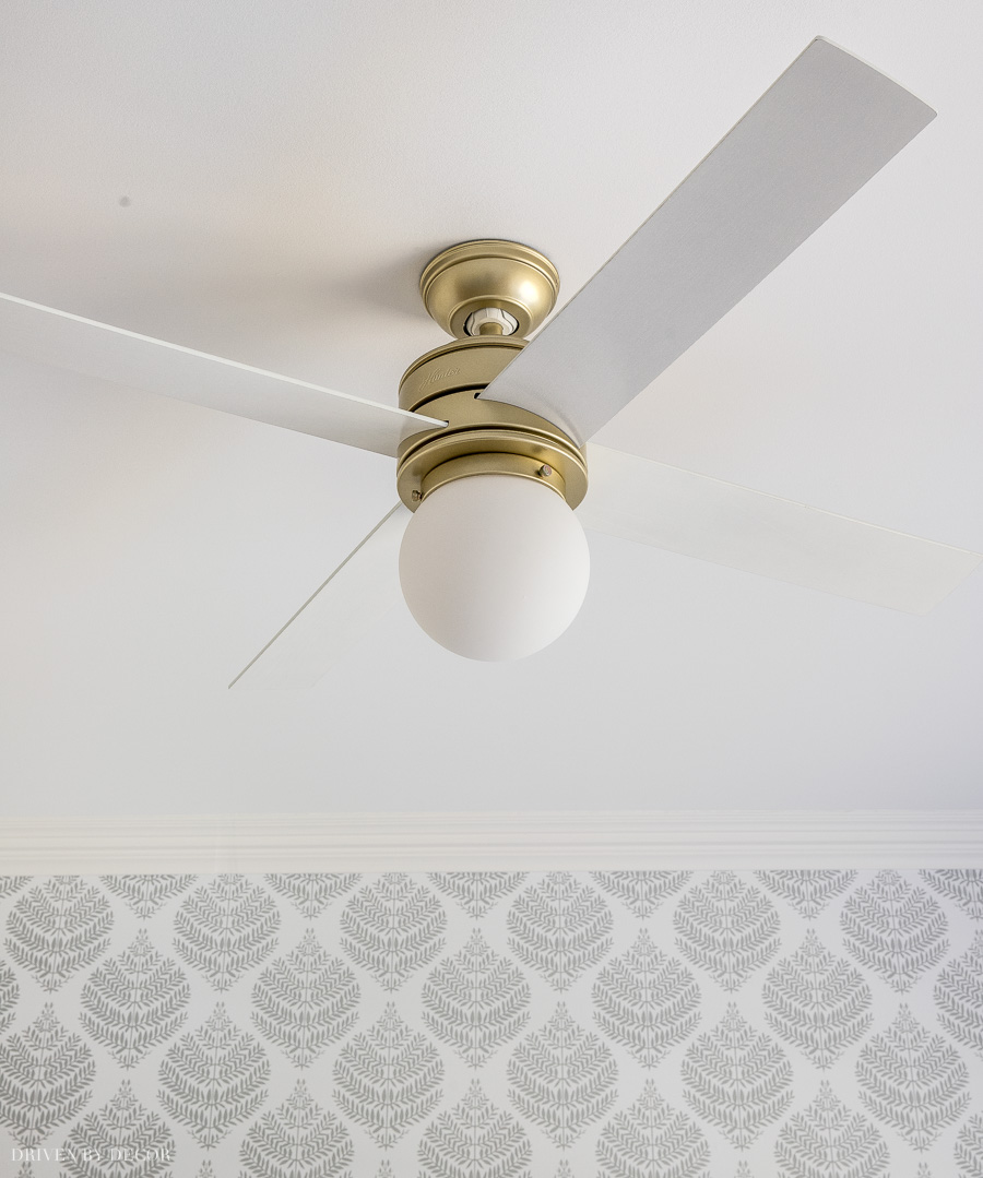 Love this ceiling fan in my girls' room that's an Amazon Prime deal!
