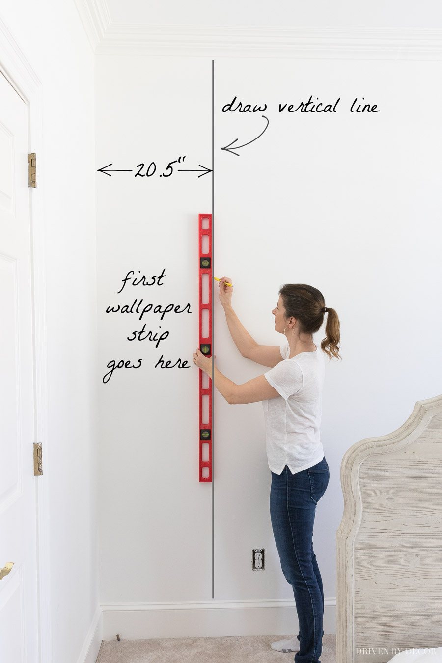 So helpful in showing how to hang peel and stick wallpaper