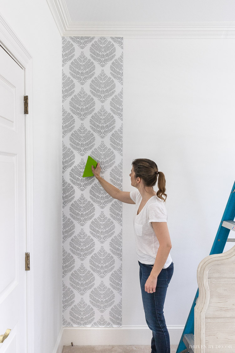 All the details on using peel and stick wallpaper!