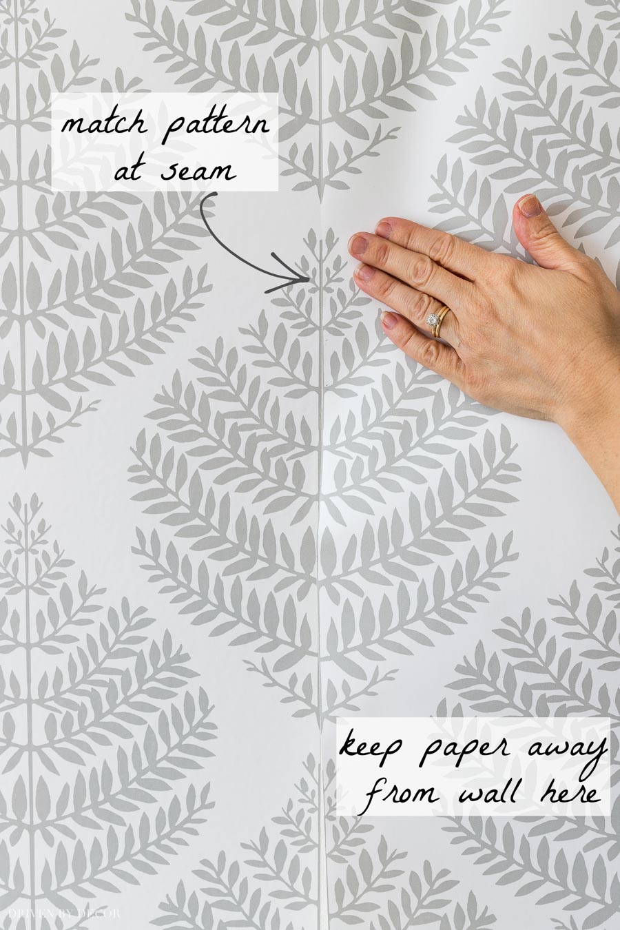 How to match up seams with peel and stick wallpaper