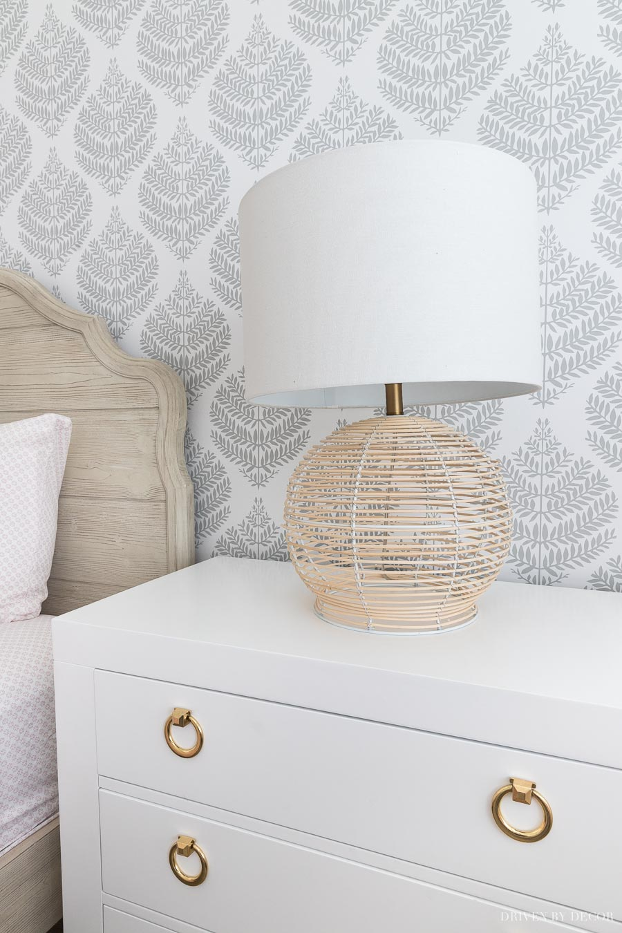 Love this rattan table lamp!