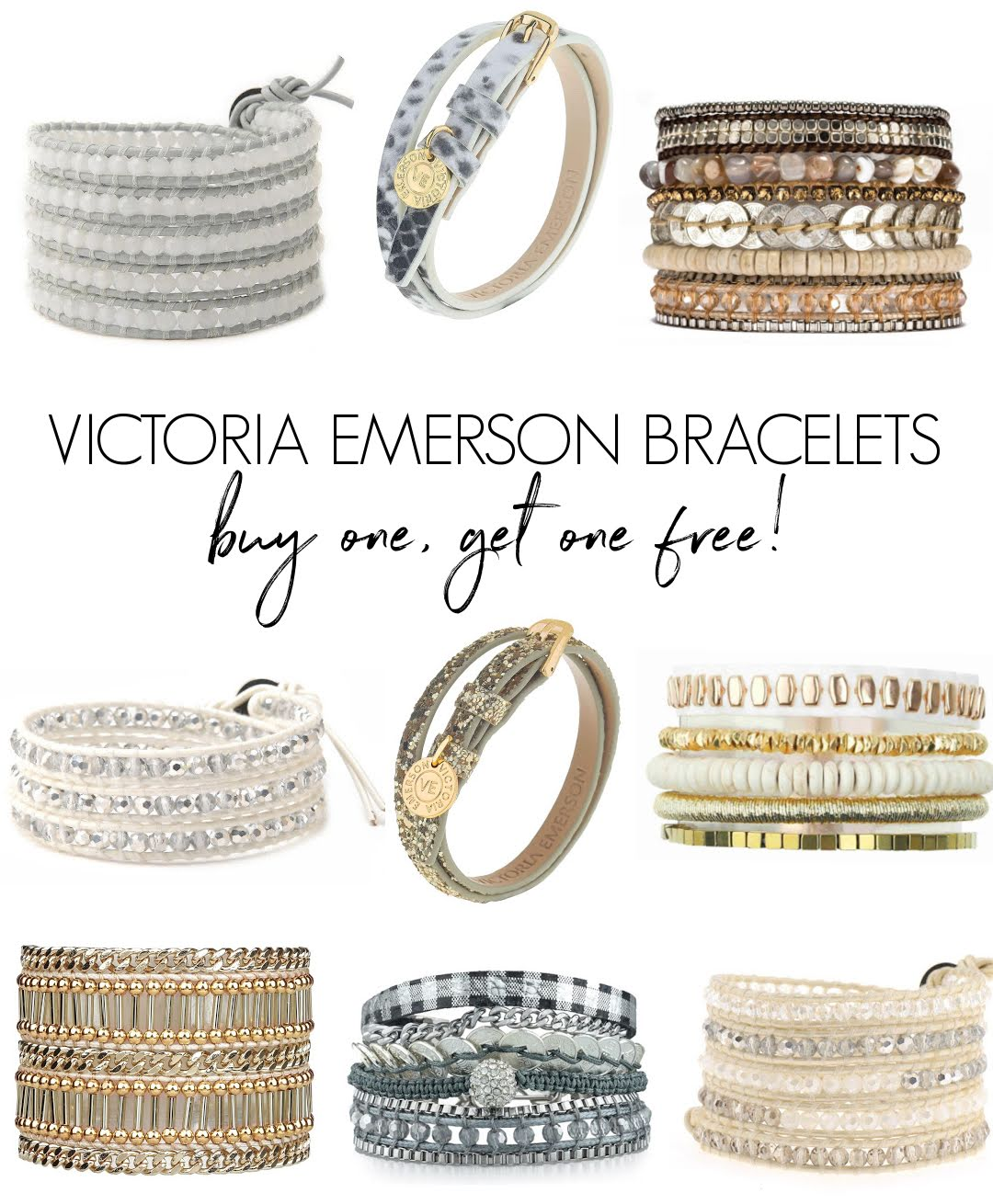 Love all of these gorgeous Victoria Emerson bracelets that are now buy one, get one free!