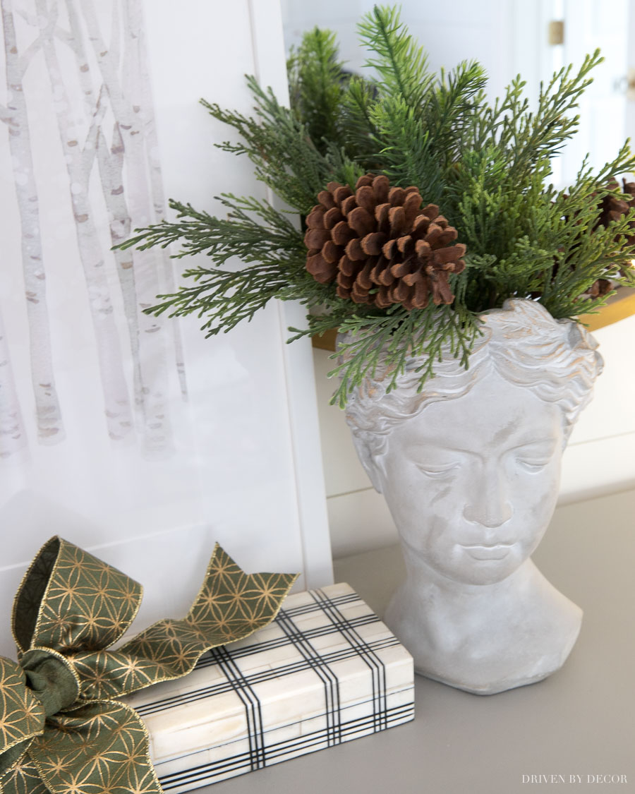 Love this bust planter - the perfect gift!