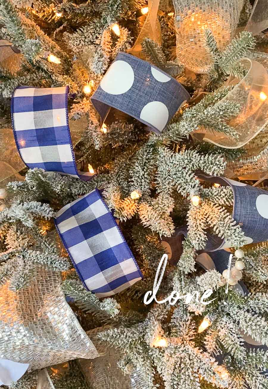 How to put ribbon on Christmas trees - this tutorial helps so much!