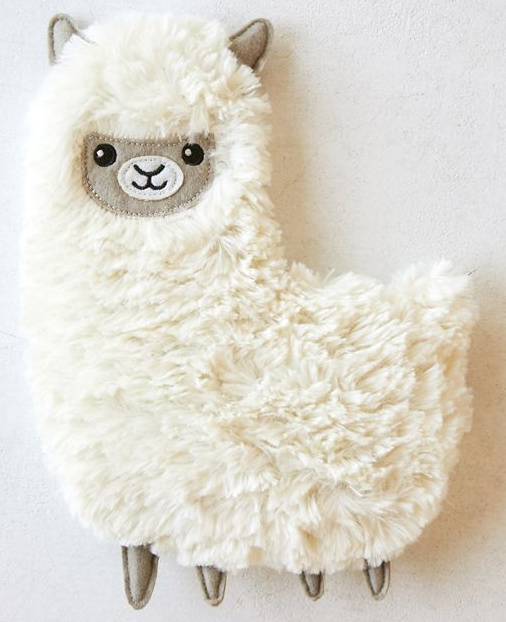 The cutest Christmas gift idea for a teen - huggable llama heating and cooling pad!