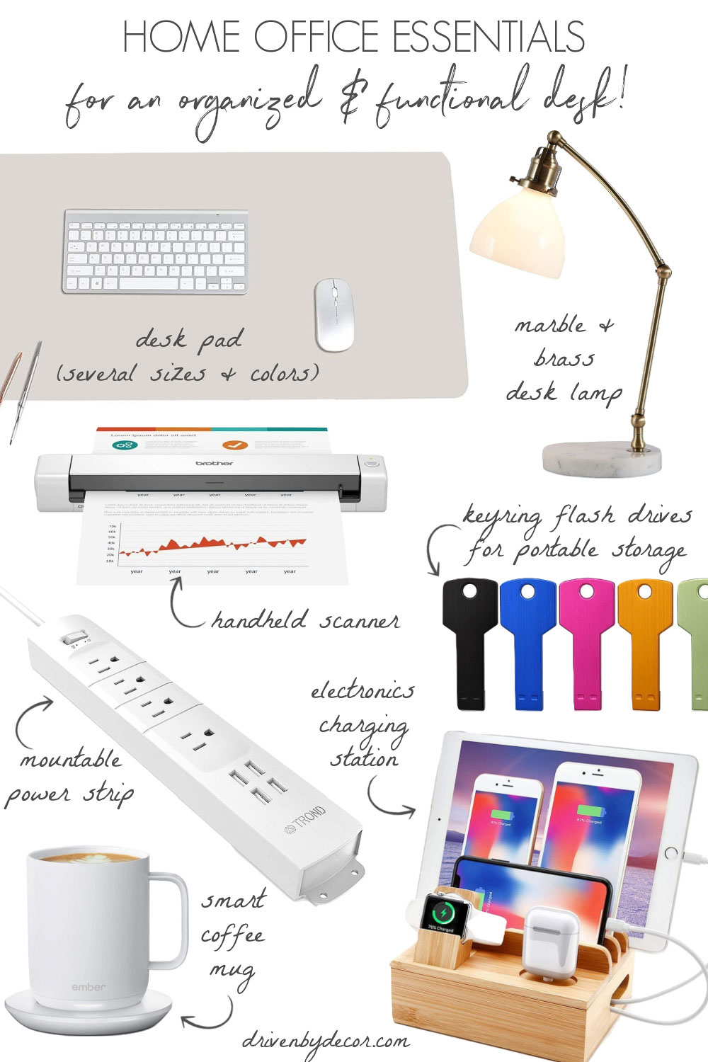 My favorite home office essentials to keep your desk organized and functional!