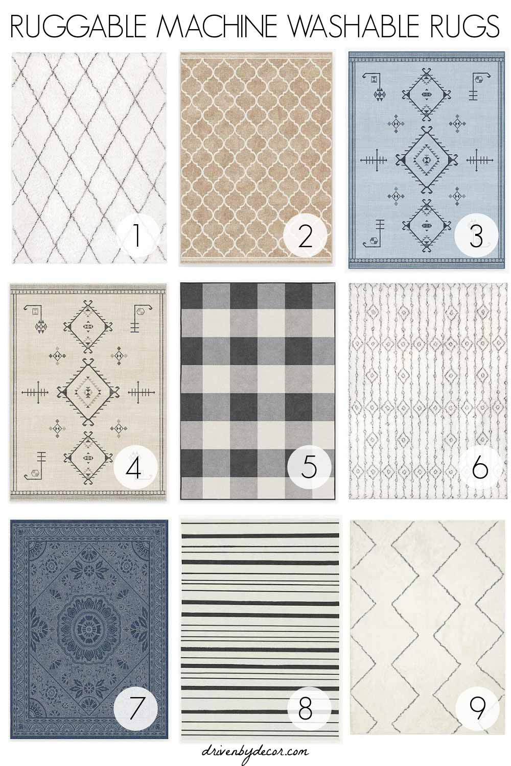 Ruggable machine washable rugs - these are my favorites!