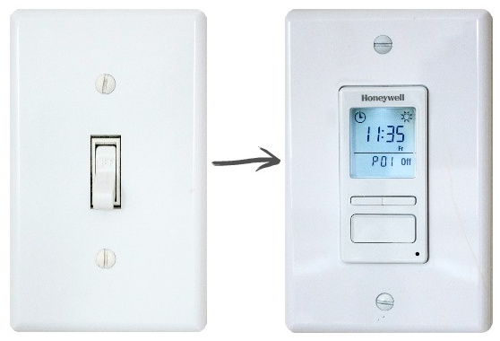 Love this programmable light switch that turns our outdoor lights on and off automatically! A favorite Amazon gadget!
