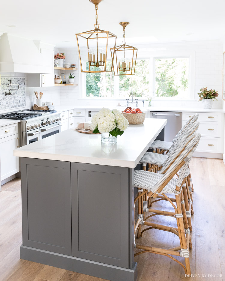 My favorite counter stools + a review of the Riviera stools I have in my own home!