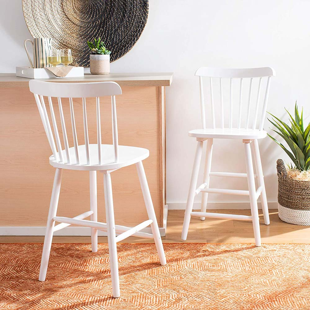 These spindle back counter stools are a classic style and fairly cheap compared to others!