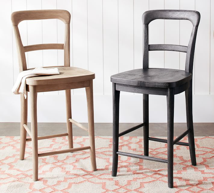 These simple curved back counter stools are inexpensive but don't look cheap!