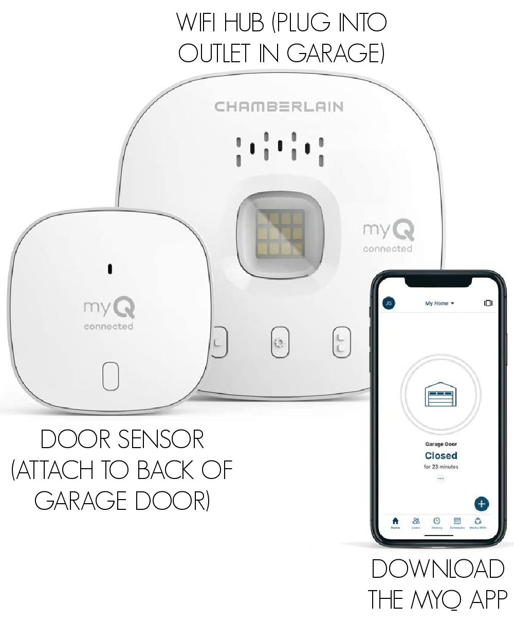 Love this smart garage door opener that you can use from anywhere!