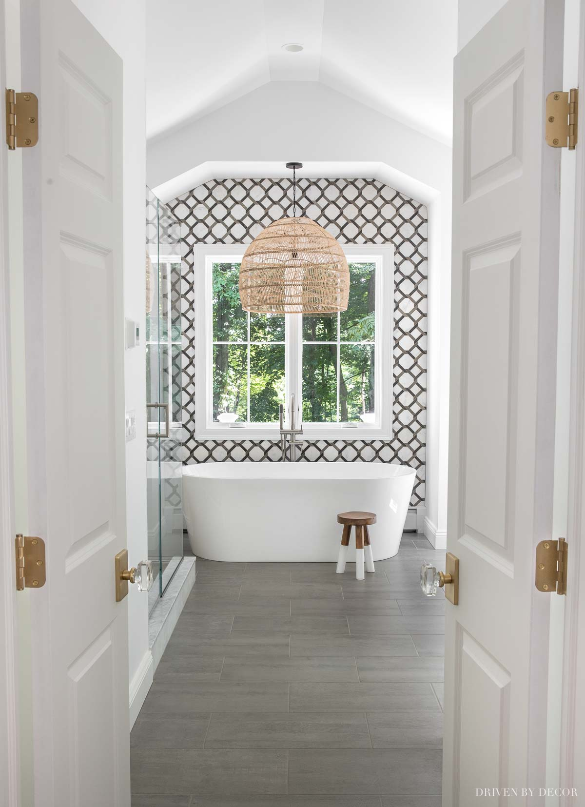The floor tile in our master bathroom