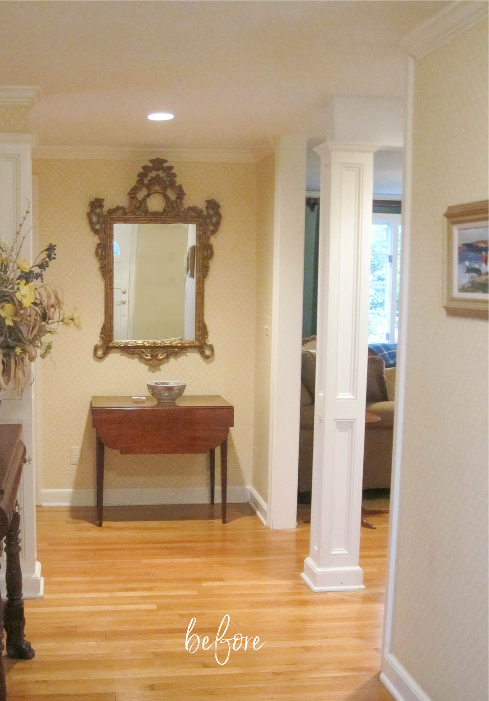 Our entryway before my makeover