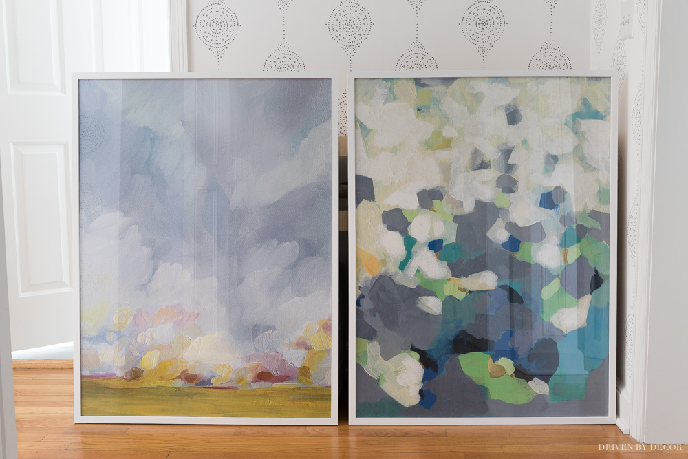 My final two choices for framed art prints in our entryway!