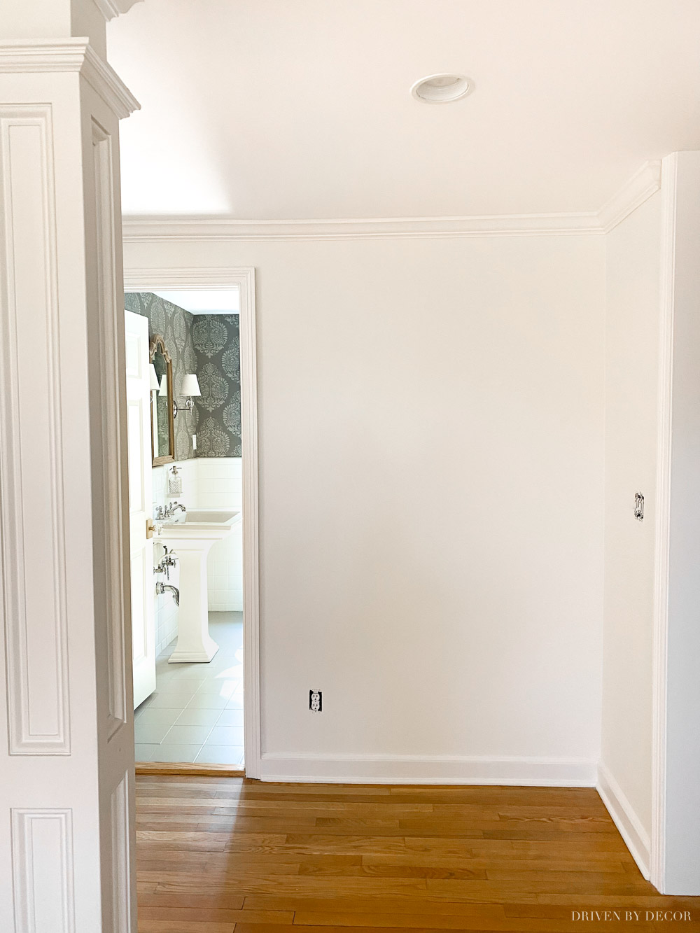 Our entryway painted in Benjamin Moore White Dove
