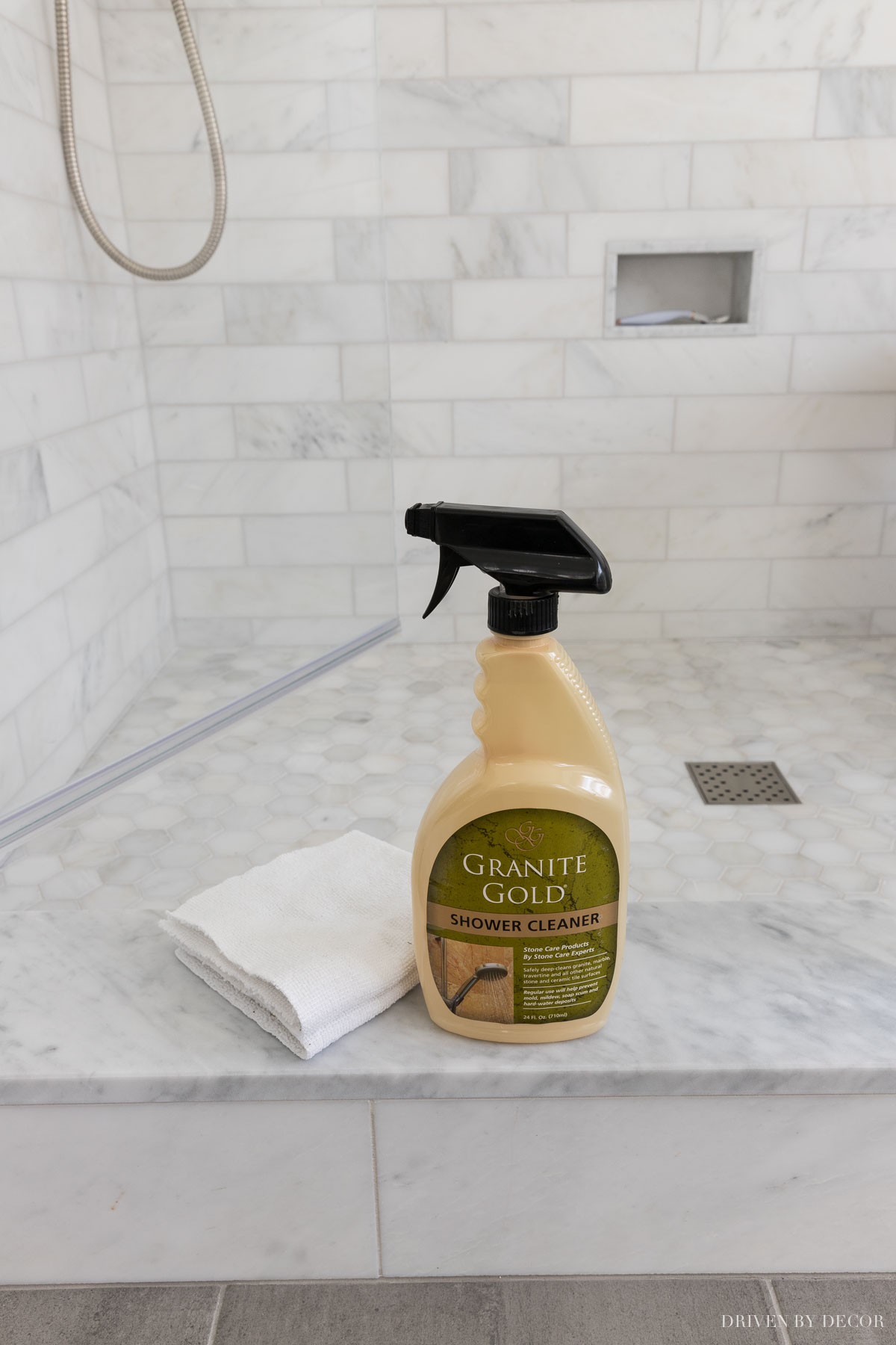 The marble shower bathroom cleaner that we use!