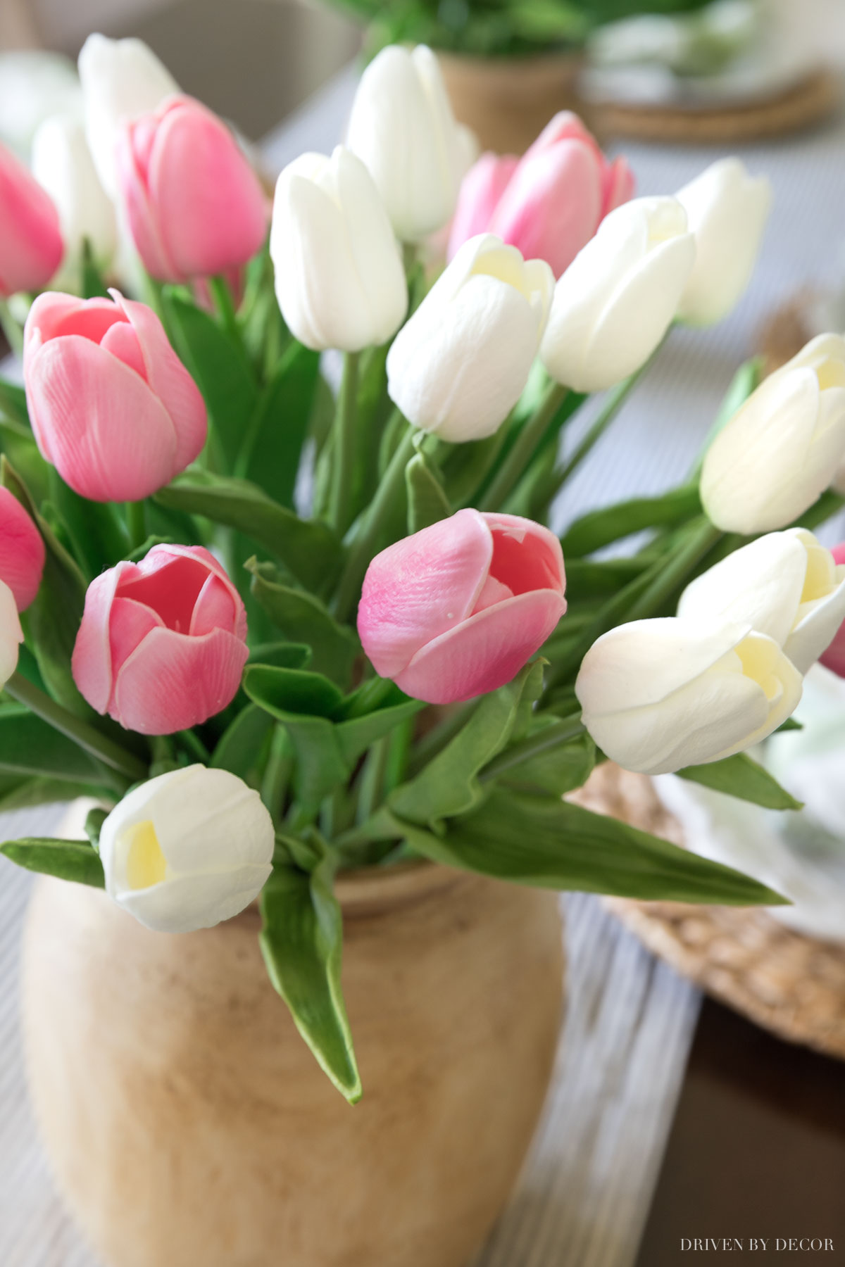 These tulips look SO realistic! You'd never guess they are artificial flowers!