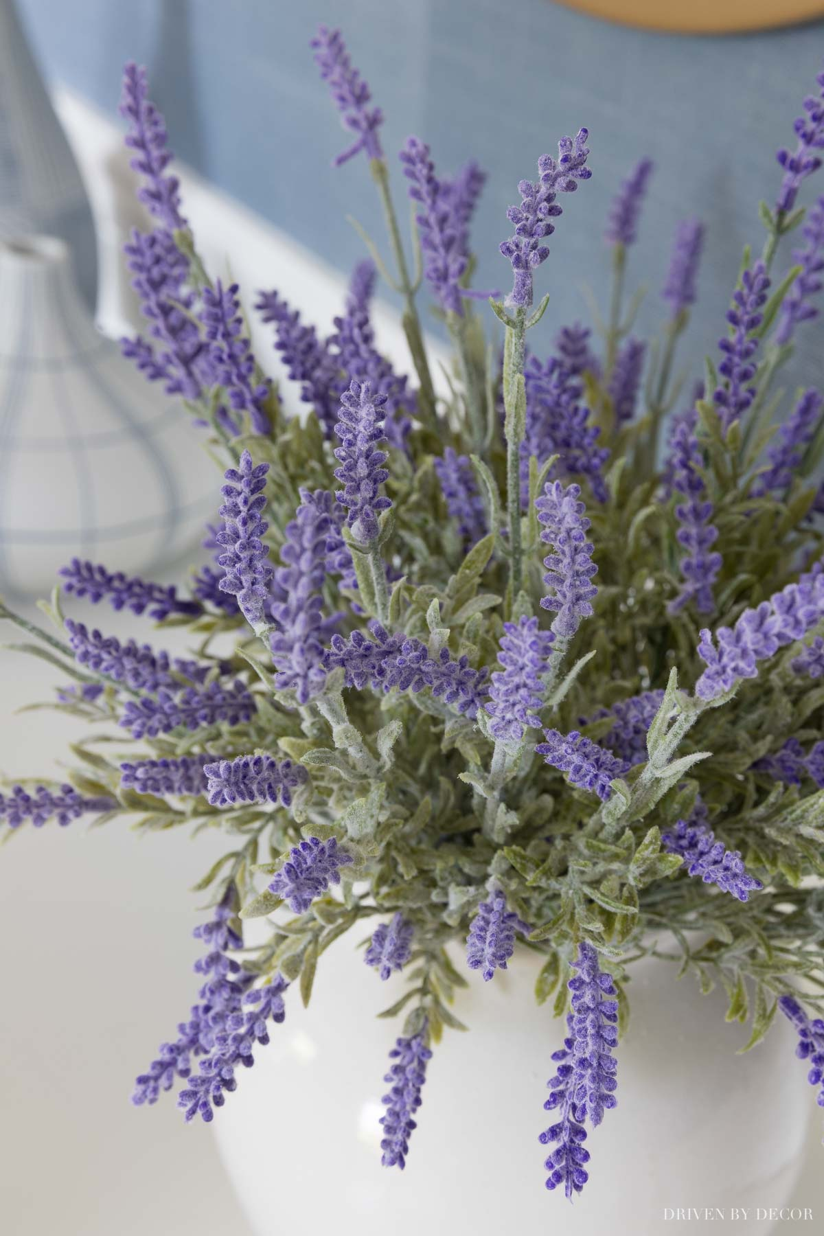 Close of up the artificial lavender in my daughter's room