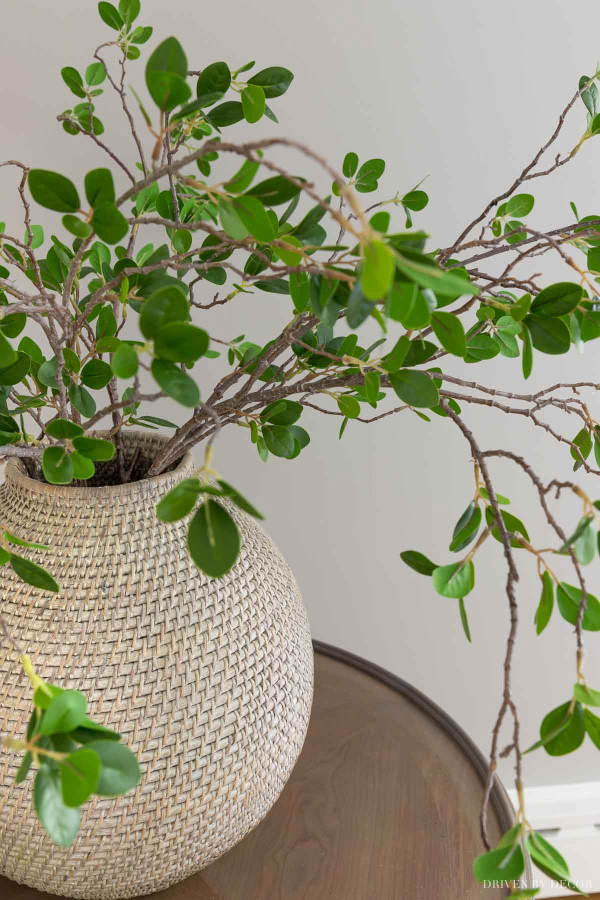 Love these faux leafy branches that come in a pack of 5!
