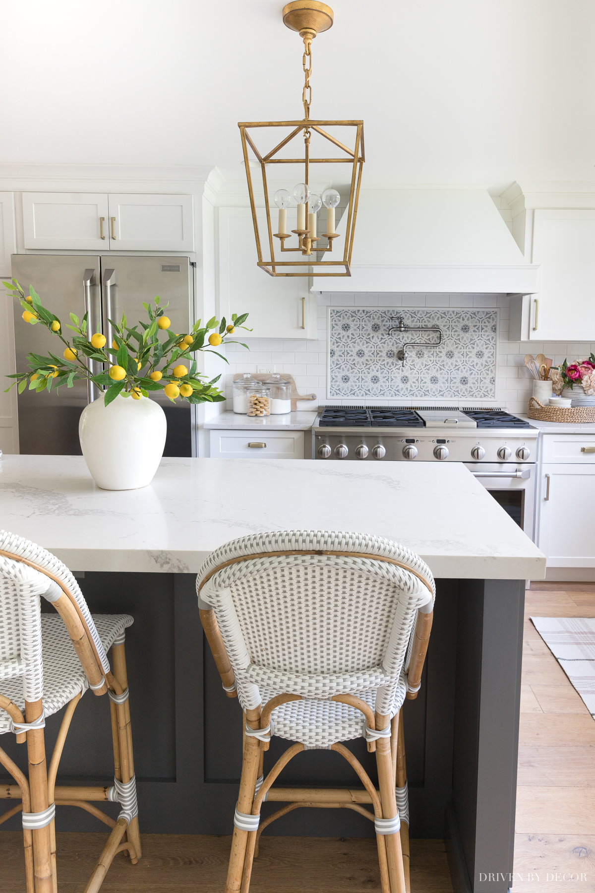 Love these bright and cheery lemon branches in our kitchen!