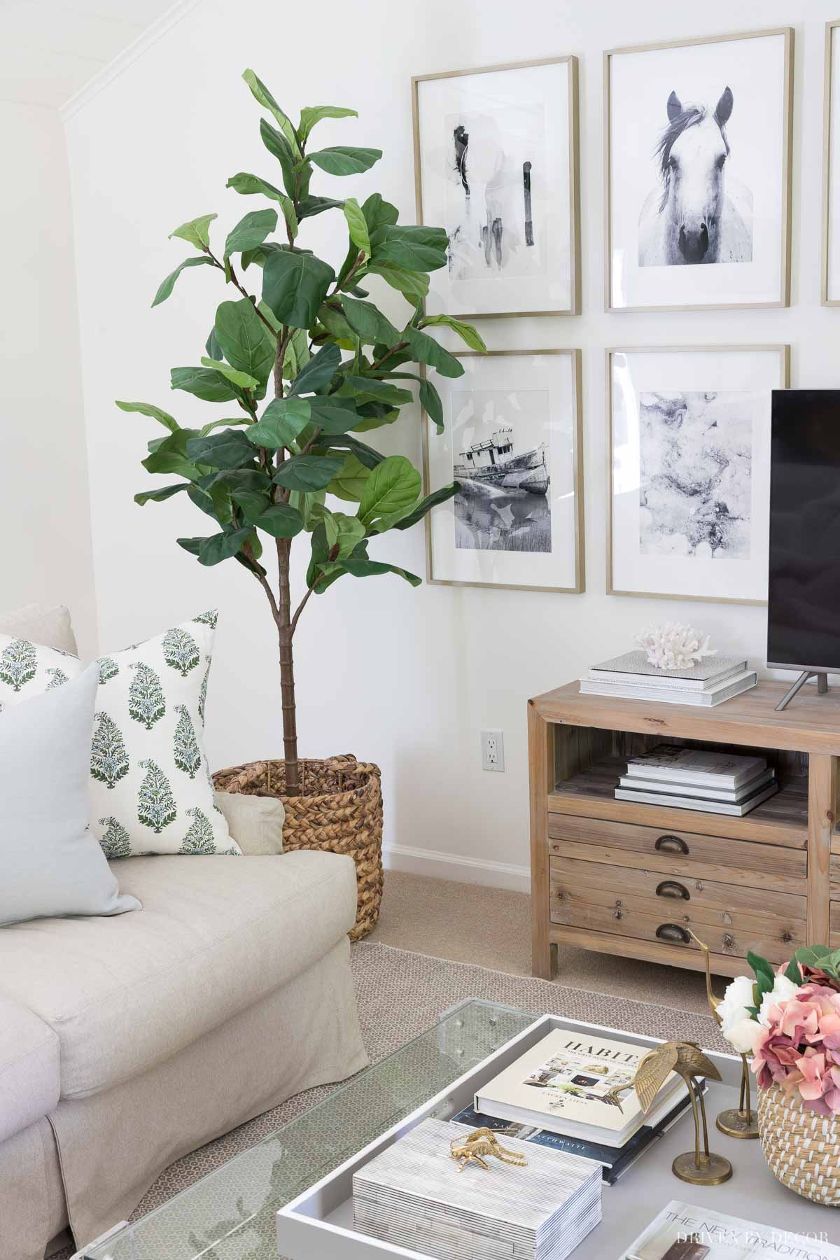 This artificial fiddle leaf fig tree is the most realistic one I've seen!
