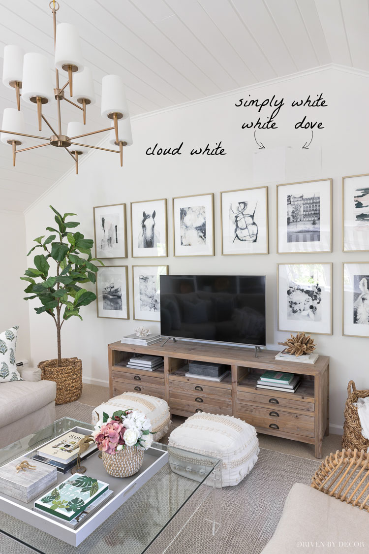 Benjamin Moore Cloud White and how it compares to other similar white paint colors
