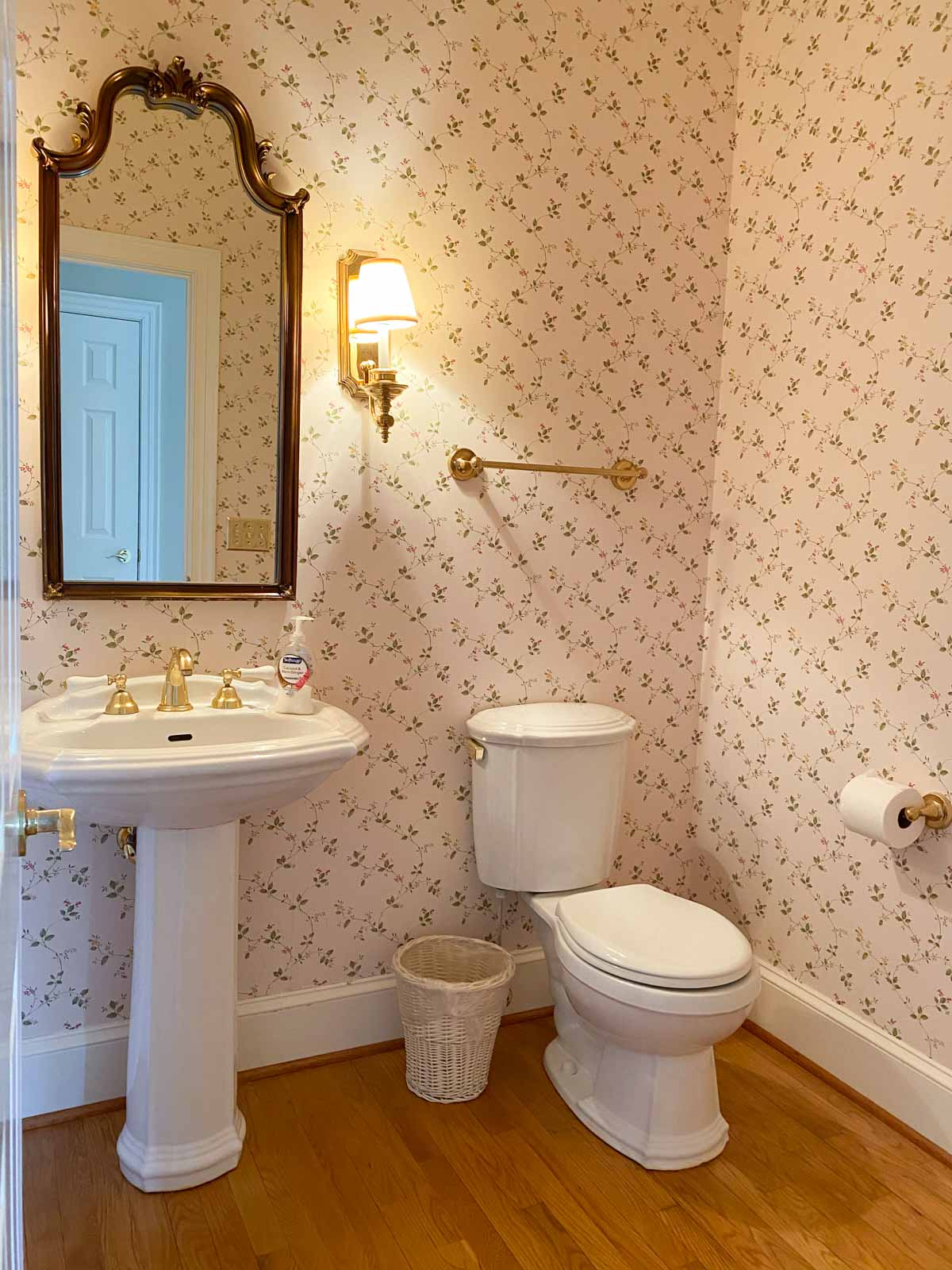 Our powder room before remodeling
