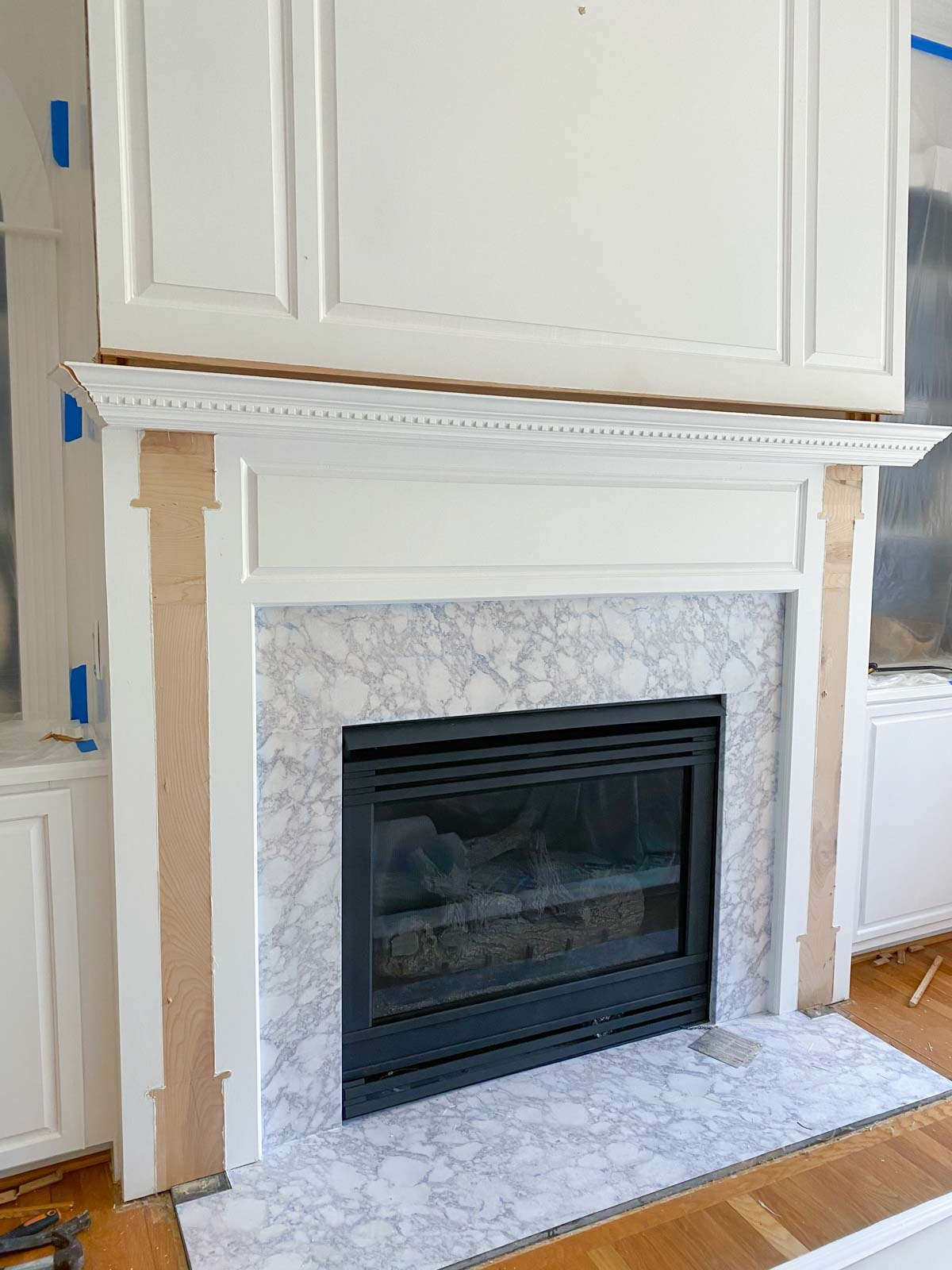 Remodeling our fireplace