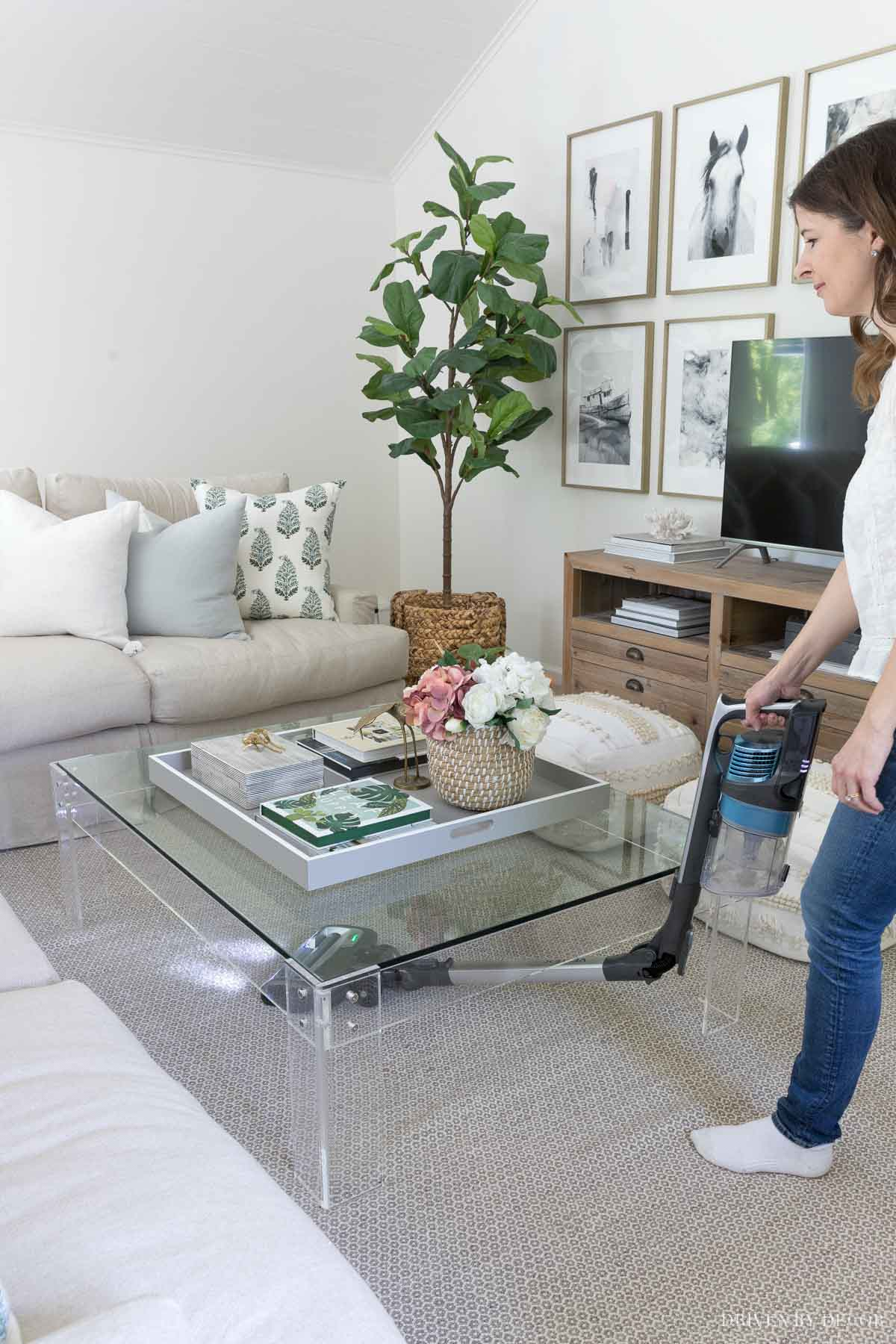 This feature of Shark cordless vacuums makes it a breeze to clean under things!