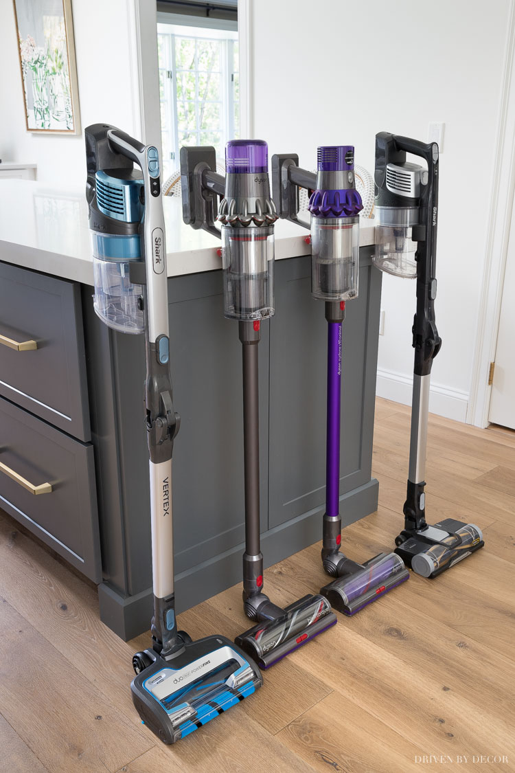 Shark vs. Dyson cordless vacuums - such a helpful comparison!